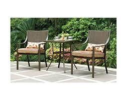 Patio Furniture Set Amazon Com Mainstays Alexandra 3 Piece Bistro Outdoor Patio