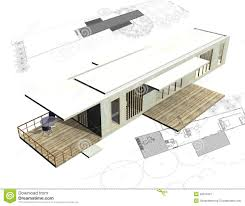 free architectural plans housing architecture plans with 3d building stock illustration
