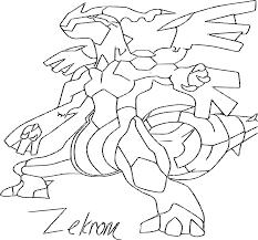 Zekrom  Coloriage du Pokemon Zekrom à imprimer et colorier