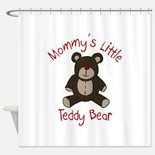 Teddy Shower Curtain Teddybear Shower Curtains Cafepress