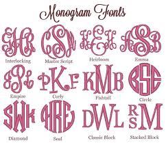 initial fonts for monogram monogram fonts so you which to choose when ordering