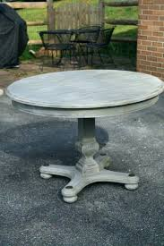Two Tone Pedestal Dining Table Dining Table Distressed Dining Table India Grey And Chairs Round