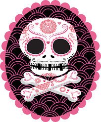 pink sugar skull vector stickers by pip gerard redbubble