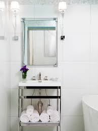 1920s Bathroom Light Fixtures by Photos Hgtv Black And White Bathroom With Bold Tree Wallpaper