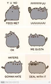 Pusheen Cat Meme - story of a cat s life meme faces meme and cat