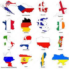 euro 2012 european championship flag maps u2014 stock photo tonygers