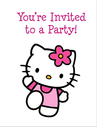 kitty free printable birthday party invitation personalized