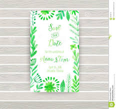 Invitation Business Cards Vector Watercolor Invitation Card With Flowers And Plants Floral