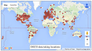 Seven Continents Map Detecting Particles With Cell Phones The Distributed Electronic