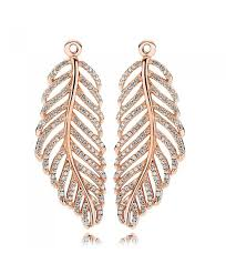 gold feather earrings pandora gold feather earrings 280680cz on sale