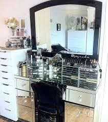 Glass Makeup Vanity Table Makeup Vanity Set Bemine Co