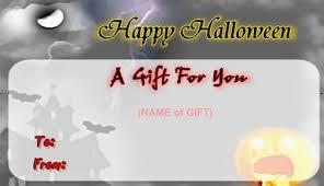 gift certificate template halloween
