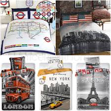 New York City Duvet Cover World Cities Duvet Cover Sets Single Double King London New