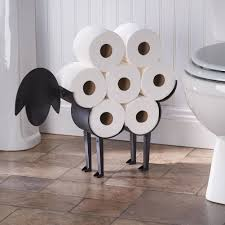 amazon com sheep toilet paper holder free standing bathroom