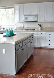 Painted Kitchens Cabinets Diy Painted Kitchen Cabinet Update Reveal Hometalk