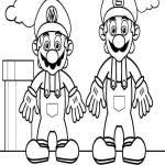 mario bros super mario coloring pages