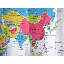 Shower Curtain Map Mylifeunit World Map Shower Curtain Bathroom Curtain Waterproof