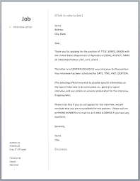 interview letter u2013 free sample letters