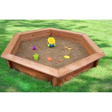 Sandboxes With Canopy And Cover by 5 Foot X 4 Foot Hexagonal Sandbox With Rain Cover Toys