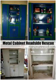 Antique Metal Cabinets For The Kitchen by Metal Cabinet Makeover Roadside Rescue