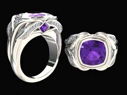 natural amethyst rings images 3 65 carat natural amethyst and diamond ring style wfj18pu14k jpg