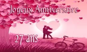 27 ans de mariage carte anniversaire mariage 27 ans virtuelle gratuite à imprimer