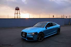 blue chrome lamborghini audi rs5 coupe gets ice blue chrome wrap