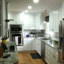 Shaker Style White Kitchen Cabinets by New Kitchen Construction With White Kraftmaid Cabinets Rotella