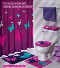 bathroom with butterfly decoration bath set bathrooms design