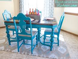 Colorful Kitchen Table Turquoise Dining Table Restoration Redoux