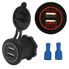 dual outlet light socket adapter dual usb car charger socket adapter 5v 4 2a power outlet for 12v 24v