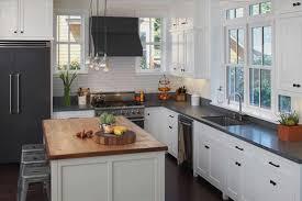 shaker cabinets kitchen island california white shaker kitchen cabinets with black