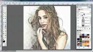 pencil photo editor gimp tutorial turn photo into soft colour pencil drawing