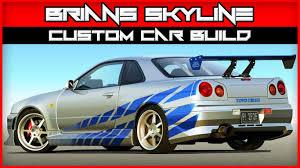 nissan gtr gta 5 xbox 360 gta v 2 fast 2 furious nissan skyline custom car build youtube
