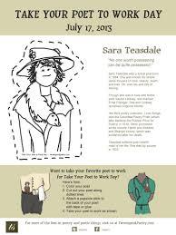 take your poet to work sara teasdale