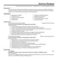 Quality Control Specialist Resume Unforgettable Counter Desk Attendant Equipment Specialist Resume