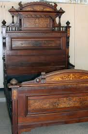 Bedroom Furniture Dresser Sets by Antique Bed Eastlake Style Walnut W Burl Inlays 1800 U0027s W Vanity