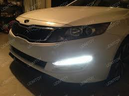 2013 kia optima led fog light bulb kia optima looks more luxurious with kia optima drl installed