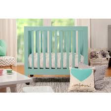 Baby Mini Crib Babyletto Origami Mini Crib Lagoon Or Grey 38 62 X 25 375 X 36