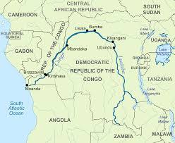Republic Of Congo Map Africa Congo River