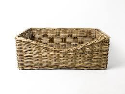 Cane Laundry Hamper by Rectangular Rattan Dog Basket Greywash U2014 Charley Chau Luxury