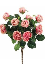 Rose Bouquet Fuchsia 9in Silk Flowers Artificial Flowers Afloral Com