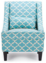 lotus contemporary fabric armchair blue patterned fabric