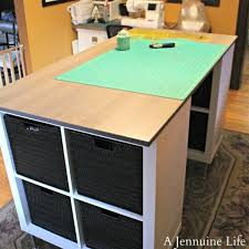 Craft Desk With Storage Diy Counter Height Craft Table With Storage U2013 Scrap Booking