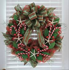 christmas mesh wreaths diy coastal christmas mesh wreath the wreath depot
