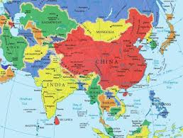 continents on map what are the 7 continents from to smallest