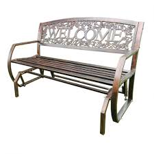 White Cast Iron Patio Furniture Outdoor Outdoor Glider Bench Wrought Iron Patio Furniture
