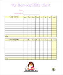 Chore Sheet Template 7 Chore Chart Templates Free Word Excel Pdf Documents