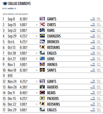 2013 nfl schedule released dallas cowboys 2013 2014 nfl schedule
