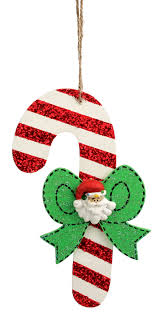 hanging wood candy cane ornaments craft christmas candy